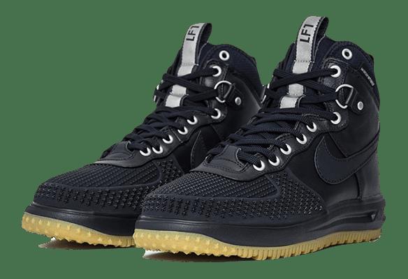 5e0257e1 Кроссовки Nike Lunar Force 1 кожа-сетка черные в Люберцах - купить ...