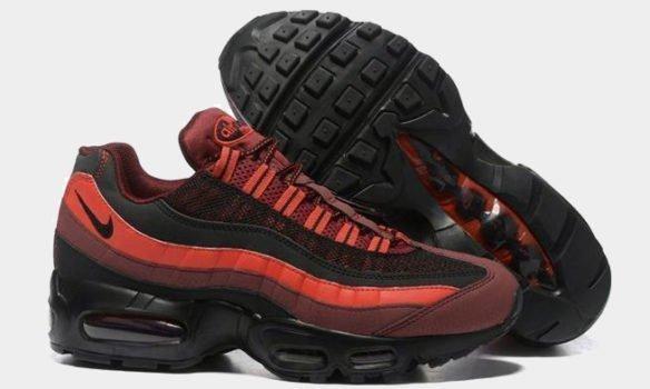 Фото Nike Air Max 95 Premium красно-черные - 1