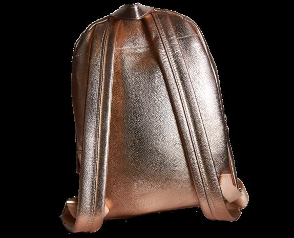 Фото золотой кожаный рюкзак - 1