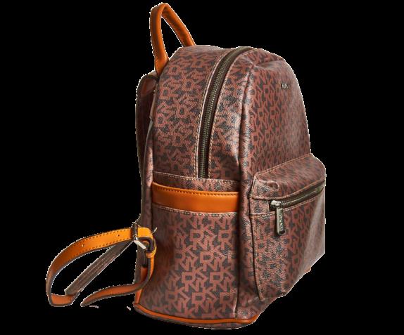Фото кожаный коричневый рюкзак DKNY - 2