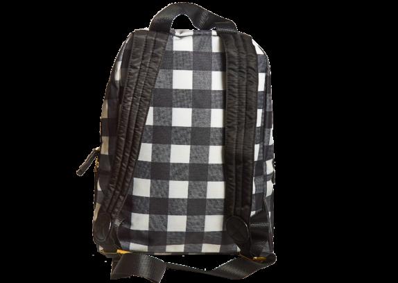 Фото рюкзак в черно белую сетку - 2